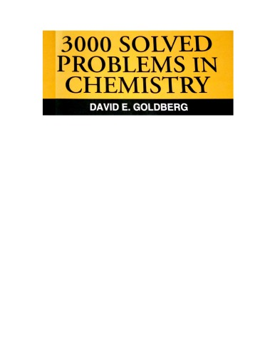Schaum 3000 Solved Problems in Chemistry by David E Goldberg Part 1 Chapter 1 till Chapter 15